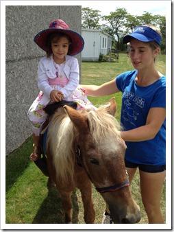 ella horse back riding