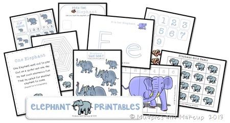 Elephant Printables Free