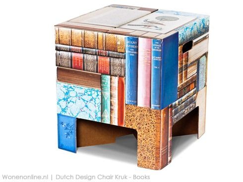 Dutch-Design-Chair-Kruk---Books