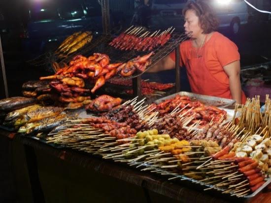 Things on sticks... Sibu Night Market