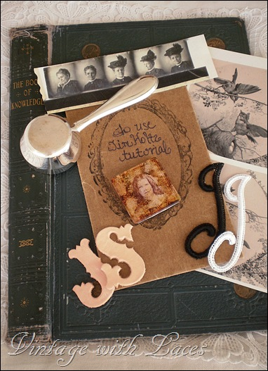 book cover, monograms