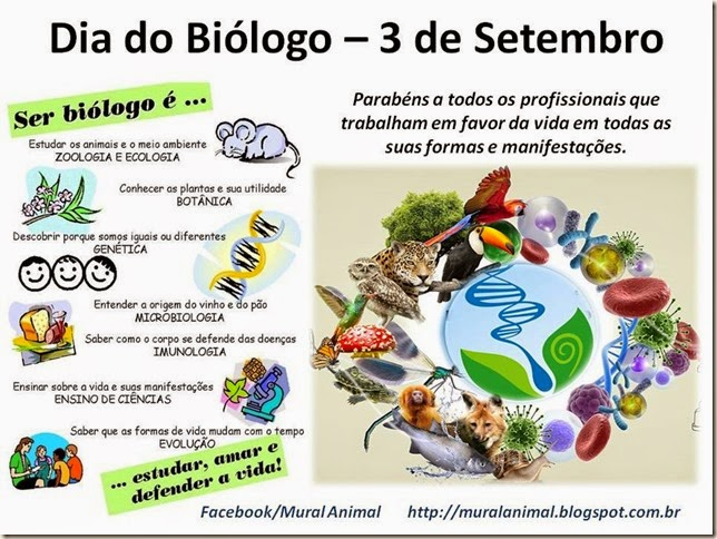 Dia do Biólogo – 3 de Setembro