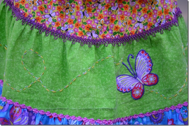 skirt detail, doll bed, front flowers 012