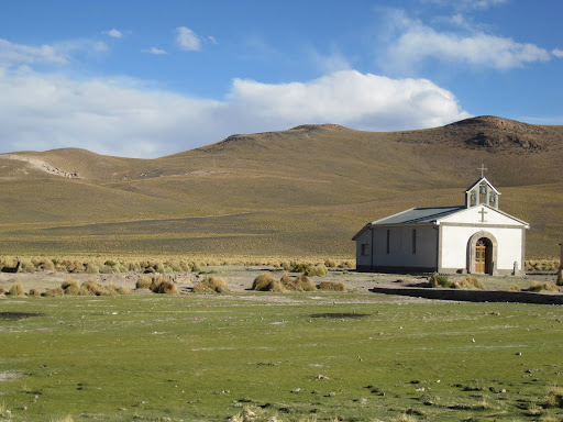 A lonesome church in San Antonio de Lipez