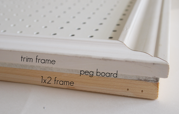 peg board tutorial at GingerSnapCrafts.com #pegboard #storage