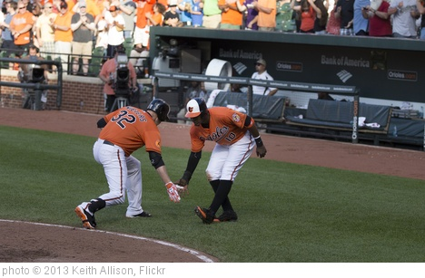 'Matt Wieters, Adam Jones' photo (c) 2013, Keith Allison - license: http://creativecommons.org/licenses/by-sa/2.0/
