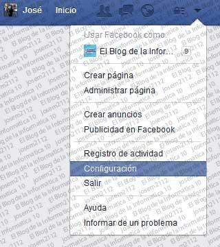 Seguir perfiles de Facebook - configuración cuenta fb