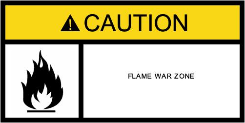 Real Size Example Warning Label