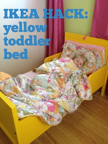 yellow toddler bed