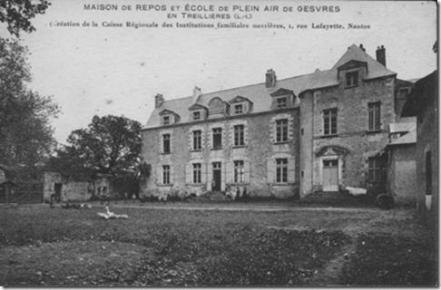 Le château de Gesvres propriété de la CRIFO vers 1930