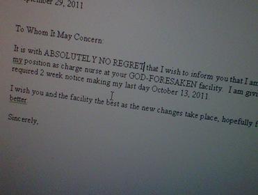 fake resignation