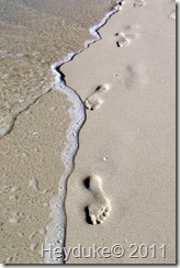 footprints in the saand