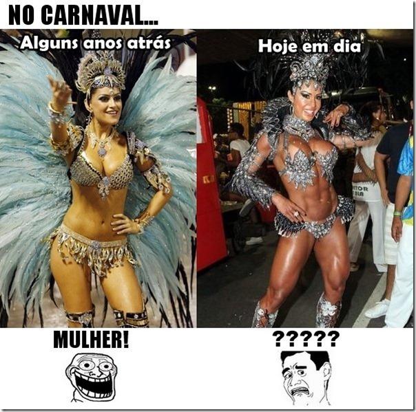 A diferença das mulheres no carnaval antigamente e hoje em dia
