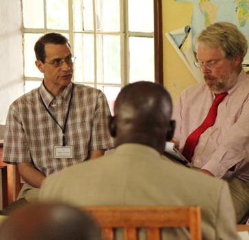 Jim Higginbotham, Steve Angell at Friends Theological College, Kaimosi, Kenya