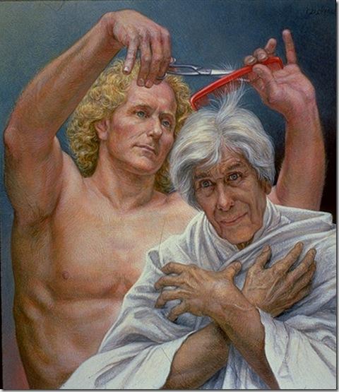 Paul Cadmus, The Haircut, 1986