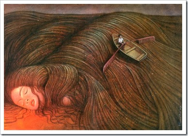 surrealism-woman-dreaming-row-boat-in-hair-beautiful-painting-art-643x442