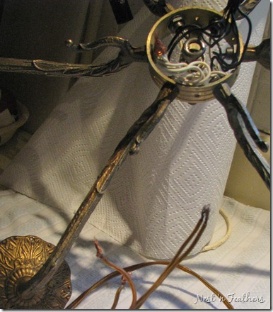 nest 'n feathers antique chandelier part 2 rewiring, etc chandelier wiring diagram uk at Chandelier Wiring Diagram