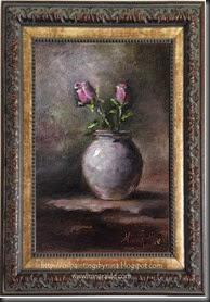 Smakey roses Framed