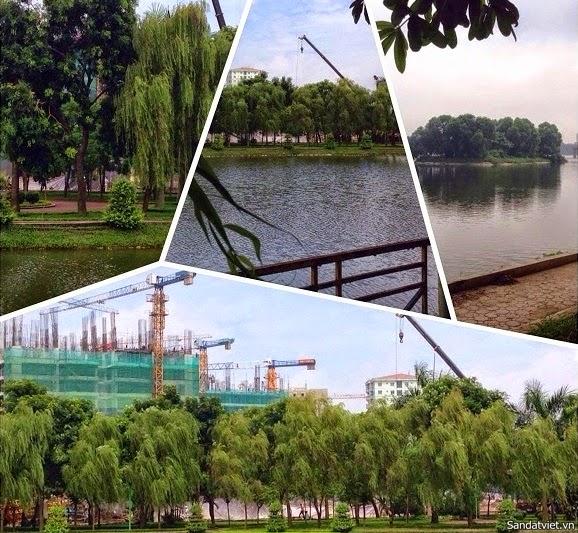 công viên và hồ điều hòa chung cư hh1-hh2-hh3-hh4 linh đàm