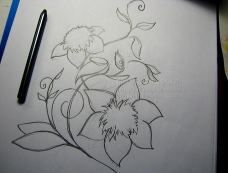 clematis-graphite-sketch