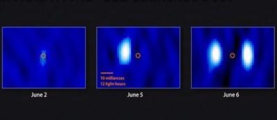 erupção no buraco negro