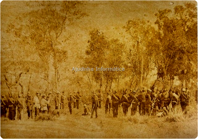 Foto dos brasileiros na guerra histórica, Brasil X Paraguai.
