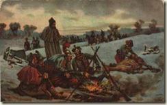 Bivouac pendant la  campagne de Russie