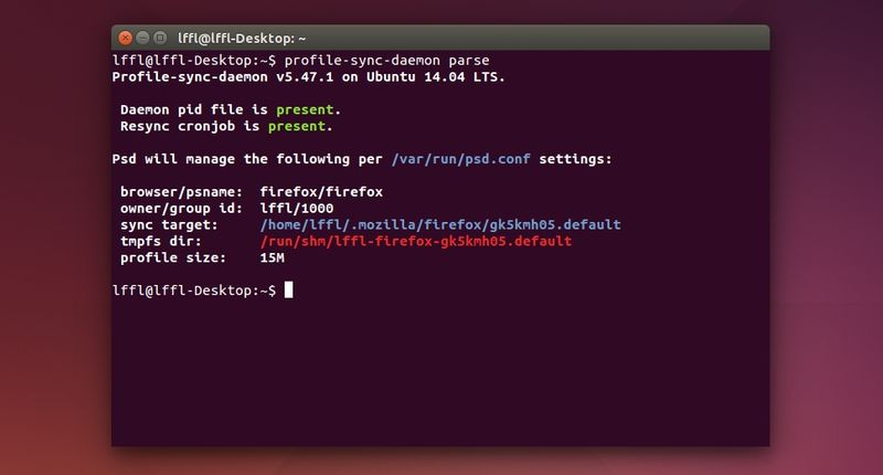 profile-sync-daemon in Ubuntu Linux