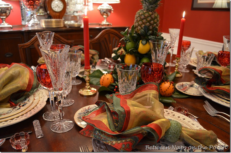 Colonial Williamsburg, Christmas Table settings Tablescape