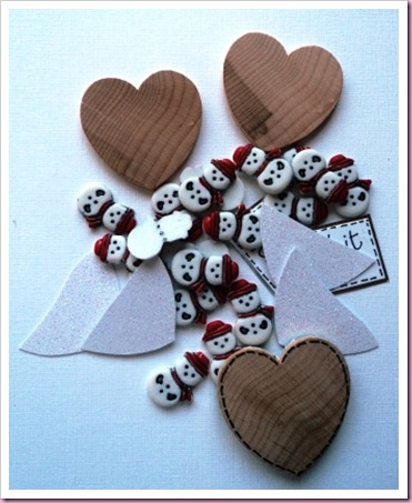 Let It Snow Heart tags