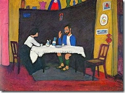 Kandinsky y Erma Bossi despues de cenar