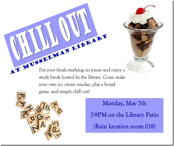 Finals Study Break Flyer