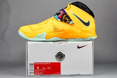 nike zoom soldier 7 gr yellow pop art 4 05 Nike Soldier VII Coconut Groove aka Pop Art available at Eastbay