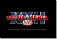 boletos triplemania 22 ACMX 17/08/2014