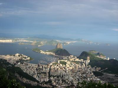 view over Rio de Janeiro - with Pão de Açúcar (Sugar Loaf)
