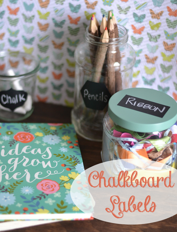 Organize with Peel and Stick Chalkboard Labels