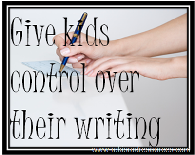 Top 10 Blog Posts from Raki's Rad Resources of 2014 - Give kids control over their writing and build strong writers