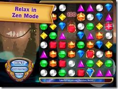 وضع الإستجمام Zen Mode الموجود بلعبة Bejeweled