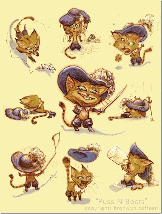 El Gato con Botas,El gato maestro,Cagliuso, Charles Perrault,Master Cat, The Booted Cat,Le Maître Chat, ou Le Chat Botté (43)
