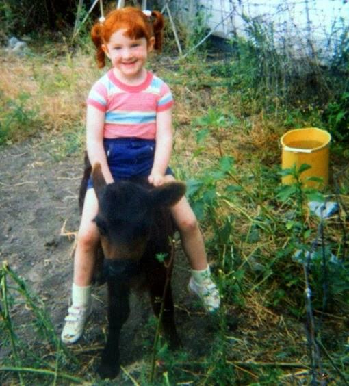 Amber riding calf2
