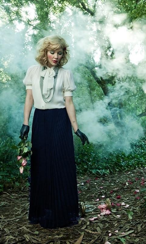 Shabby Apple maxi plait skirt