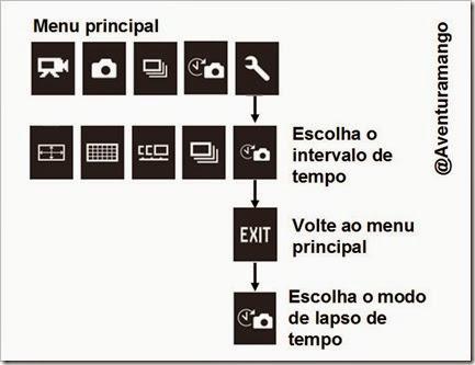Configuração GoPro para Lapso de Tempo
