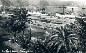 Muelle Ribera. Santa Cruz de Tenerife años 50. Uno de los dos últimos frigoríficos de la serie. POSTAL.JPG