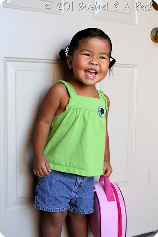 Keira - 1st day of school - 2011