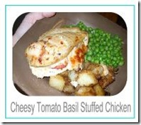 cheesy tomato basil stuffed chicken button