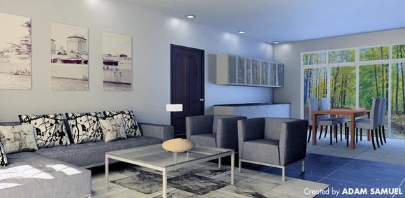 salas coloridas pero elegantes