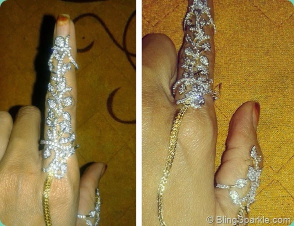 How it looks when your wear two finger ring