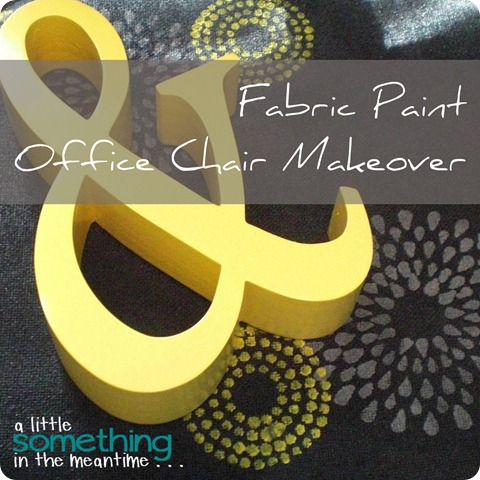 Fabric Paint Office Chair Makeover WM