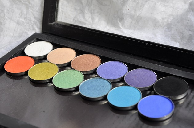 Makeup Geek Eyeshadow Review Z-Palette Colours
