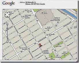 Iran Embassy, Ottawa, Canada Map